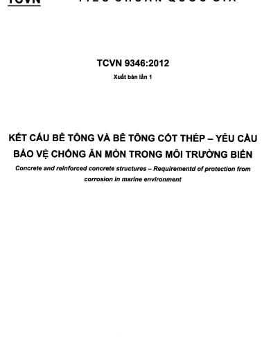 TCVN 9346-2012_YÊU CẦU BẢO VỆ CHỐNG ĂN MÒN BTCT TRONG MÔI TRƯỜNG BIỂN