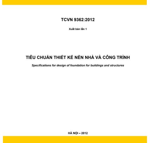 TCVN 9362-2012: TIÊU CHUẨN THIẾT KẾ NỀN NHÀ VÀ CÔNG TRÌNH